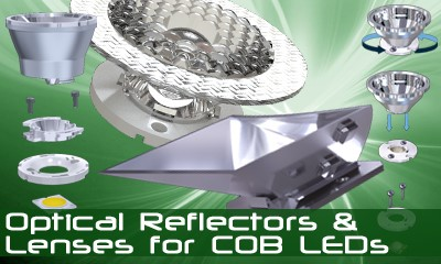 Optical Reflectors and Lenses for COB LEDs - Optical Solutions for Power LED Lighting